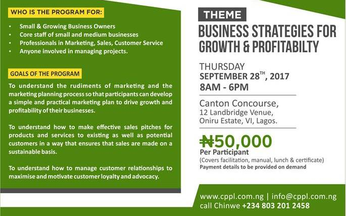 CPPL Business growth strategies training
