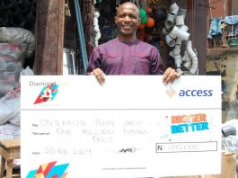 Onyekachi John, DiamondXtra N1million winner.