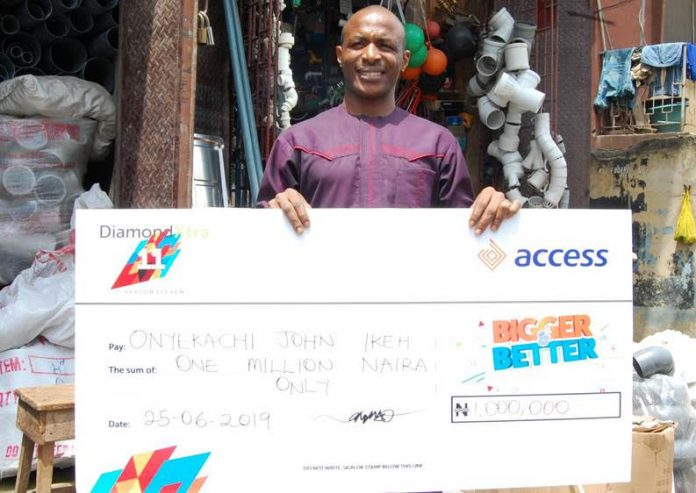 Onyekachi John, DiamondXtra N1million winner.