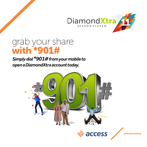Access Bank takes DiamondXtra Digital on 901