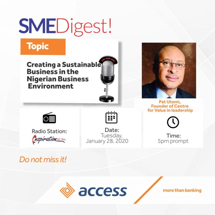 SME Digest Radio Show with Pat Utomi