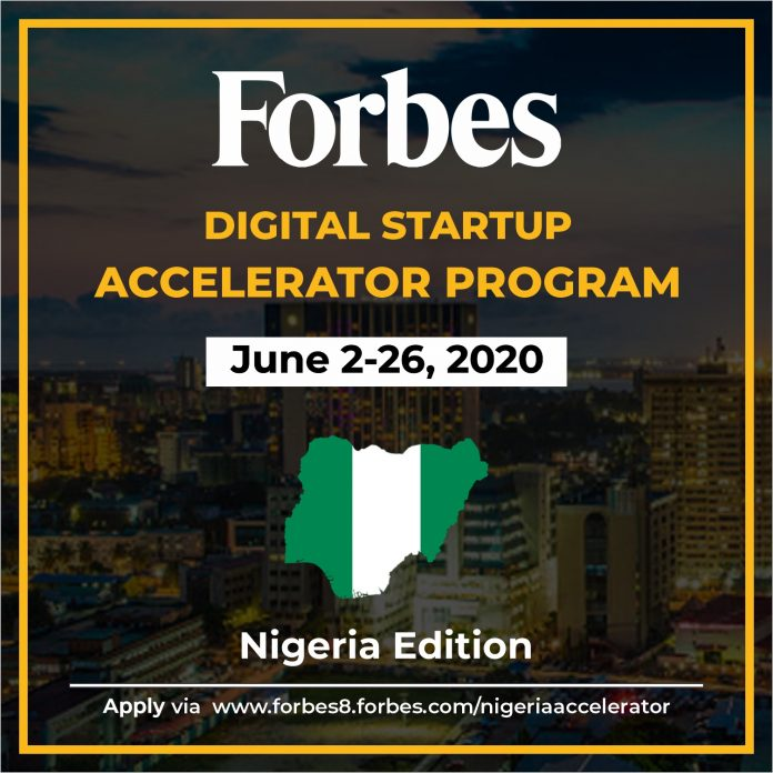 Forbes Launches Nigerias First Digital Startup Accelerator Program To Support Business Resilience During COVID19 Pandemic