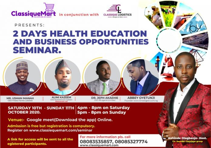 Health and business opportunity training