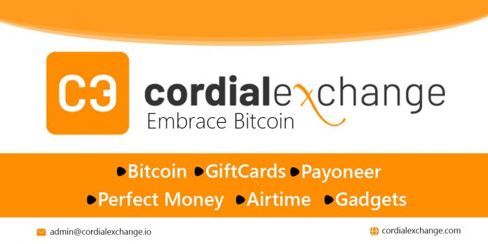 Cryptocurrency Customers Set to Enjoy Best Rates with Cordial Exchange