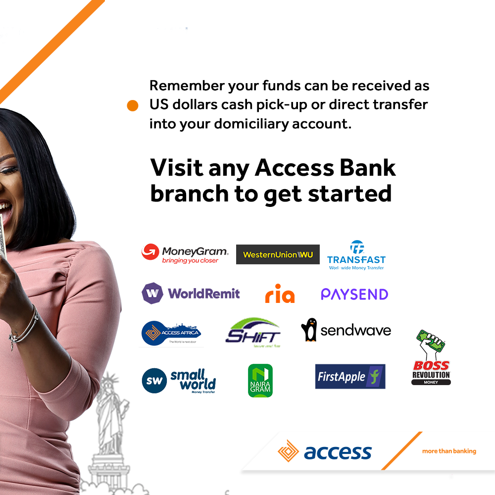 Diaspora Remittances: Access Bank to pay Customers N5 for every $1 received